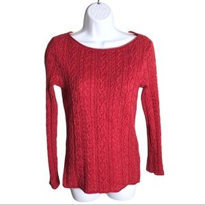 Ralph Lauren Coral Cable Knit Sweater Size S